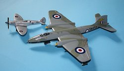 Airfix Canberra B(I).8 and Spitfire PR.19