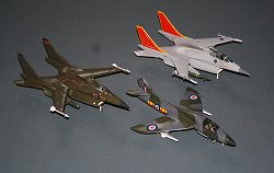 Hunter NF.15 604 Sqn RAuxAF, peregrine GR.1 67 Sqn and GR.4 800 NAS