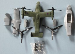 1:144 Pit Road Osprey with parts for second