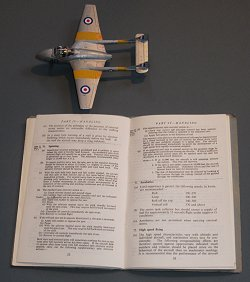 Vampire T.11 508 and the Pilot's Notes on Spinning.